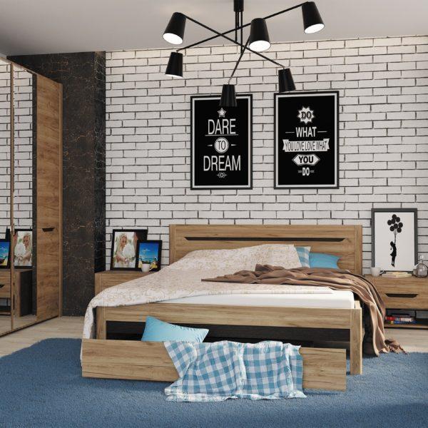 Спальня Афина (Дуб крафт табачный)