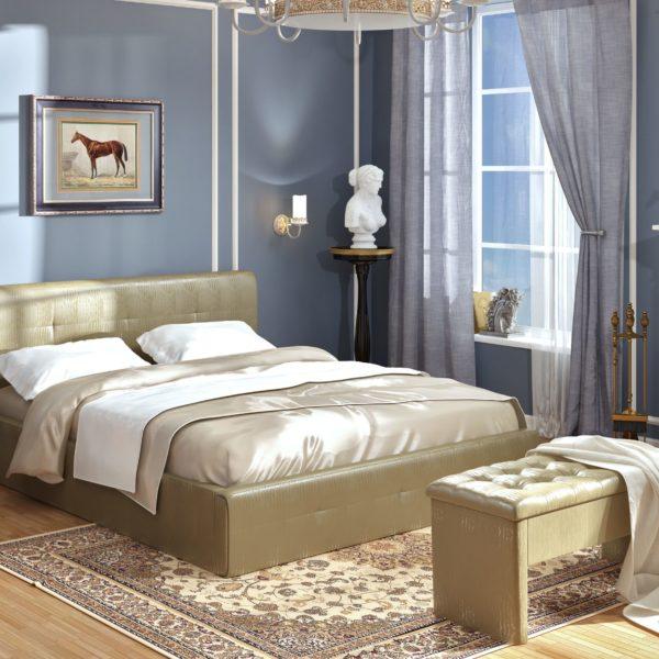 Кровать из экокожи Линда