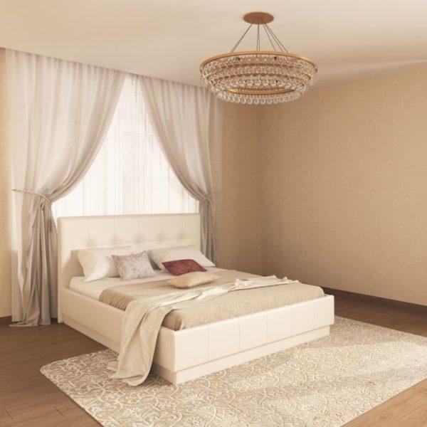 Кровать из экокожи Локарно