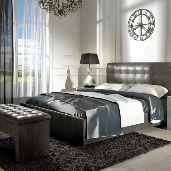 Кровать из экокожи Лорена (Кожа FENGO)