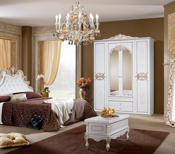 Спальня Розалия КМК 0456-02 (Белая)