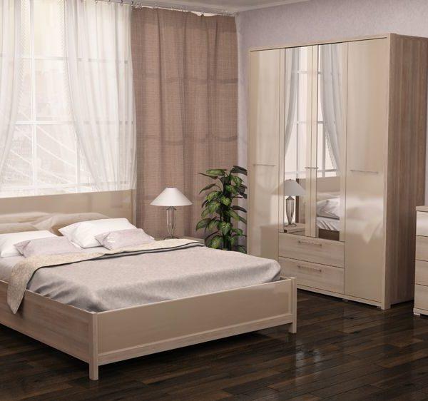 Спальня Вива (Невис / Капучино глянец)