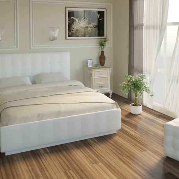 Кровать из экокожи Лорена (Белая)